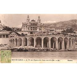 ABAO Monaco Monte-Carlo - Le Tir aux Pigeons et le Casino vus de la Mer.