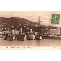 06 - Alpes Maritimes [06] Cannes - Yachts dans le Port et la Californie.