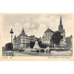 ABAO 64 - Pyrénées Atlantiques [64] Pau - Square St-Martin et Hôtel Gassion.