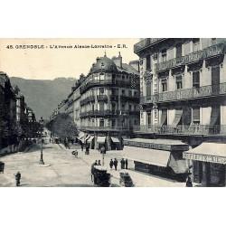 38 - Isère [38] Grenoble - L'Avenue Alsace-Lorraine.