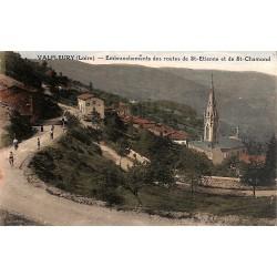 42 - Loire [42] Valfleury - Embranchements des routes de St-Etienne et de St-Chamond.