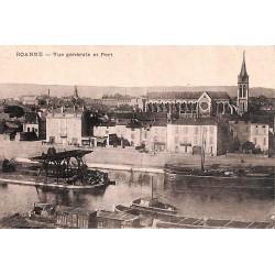 42 - Loire [42] Roanne - Vue générale et Port.