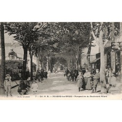 ABAO 17 - Charente-Maritime [17] Fouras-les-Bains - Perspective du Boulevard Allard.