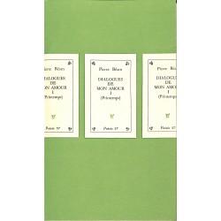 ABAO 1900- BEARN, Pierre.- DIALOGUES DE MON AMOUR. 4 vol. sous coffret.