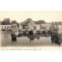 72 - Sarthe [72] Le Mans (environs) - Vieux moulin sur l'Huisne.