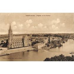 72 - Sarthe [72] Sablé - L'Eglise, vue du Château.