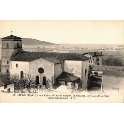 ABAO 64 - Pyrénées Atlantiques [64] Hendaye - L'Eglise, le Cap du Figuier, la Bidassoa, les villas de la plage, Hôtel Eskuald...