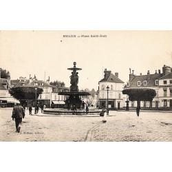77 - Seine-et-Marne [77] Melun - Place Saint-Jean.