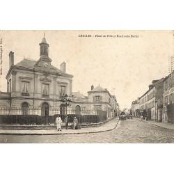 ABAO 77 - Seine-et-Marne [77] Chelles - Hôtel de Ville et Rue Louis Eterlet.