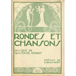 ABAO Partitions DORET, Gustave.- RONDES ET CHANSONS.