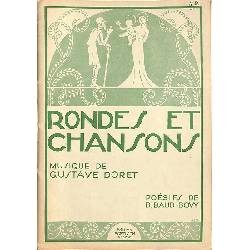 Partitions DORET, Gustave.- RONDES ET CHANSONS.