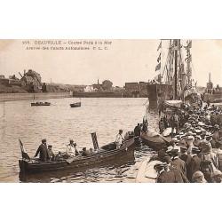 ABAO 14 - Calvados [14] Deauville - Course Paris à la Mer. Arrivée des Canots Automobiles.
