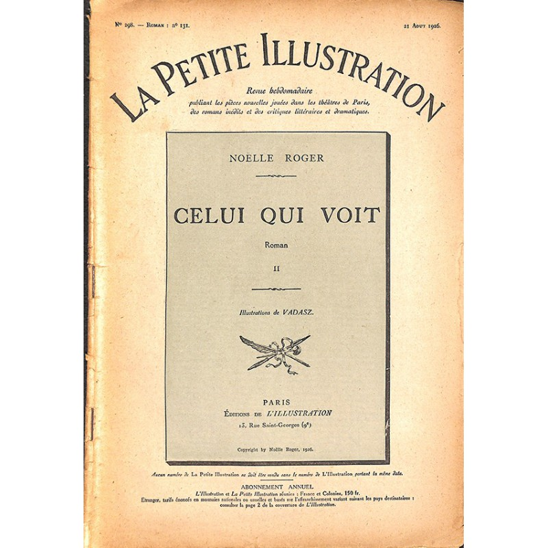 ABAO Journaux et périodiques La Petite Illustration. 1924/08/21. N°298.