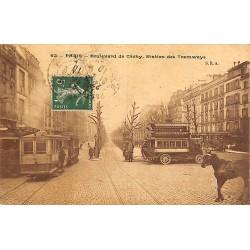 ABAO 75 - Paris [75] Paris - Boulevard de Clichy. Station de Tramways.