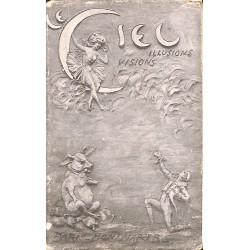 ABAO 75 - Paris [75] Paris - Montmartre. Cabaret du Ciel. Dépliant regroupant 4 cartes postales.