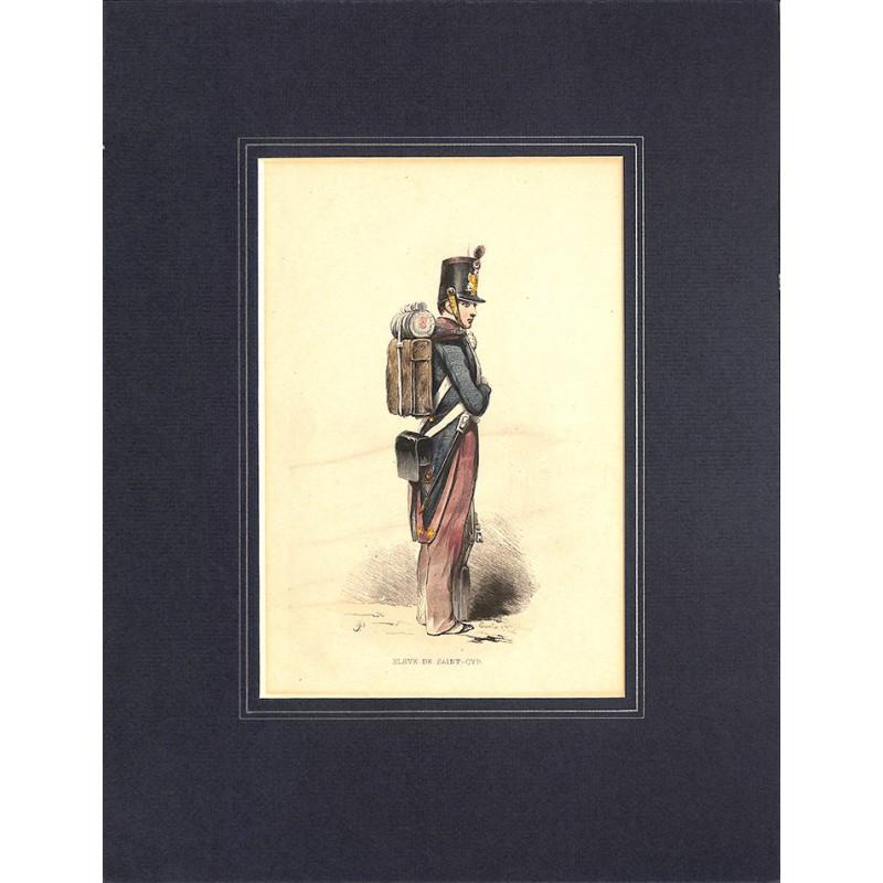 Gravures [Militariat] PAUQUET, Hippolyte.- ELEVE DE SAINT-CYR.