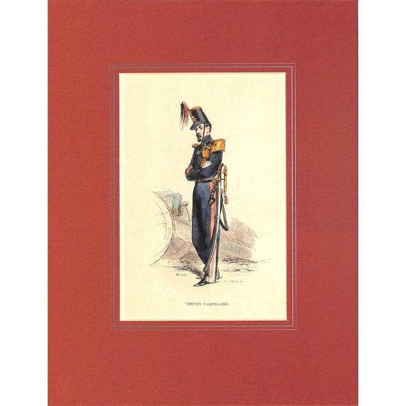 Gravures [Militariat] PAUQUET, Hippolyte.- OFFICIER D'ARTILLERIE.