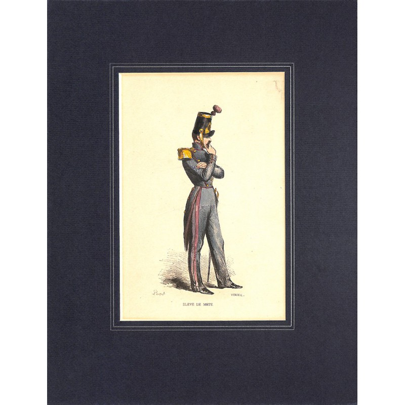 Gravures [Militariat] PAUQUET, Hippolyte.- ELEVE DE METZ.