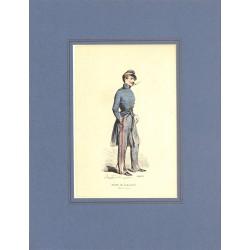 Gravures [Militariat] PAUQUET, Hippolyte.- ELEVE DE SAINT-CYR Petite tenue.