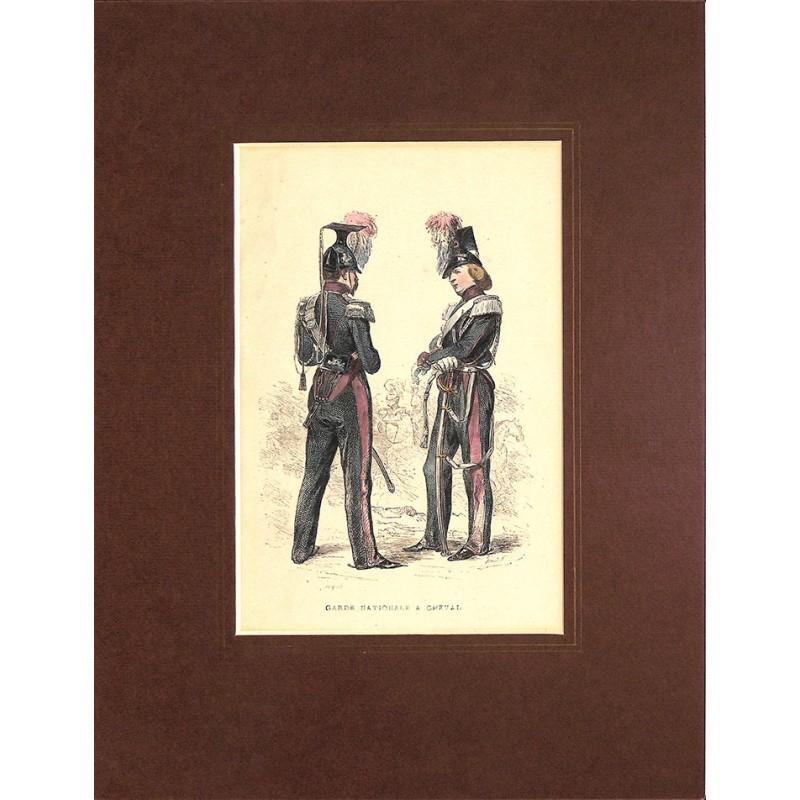 Gravures [Militariat] PAUQUET, Hippolyte.- GARDE NATIONALE A CHEVAL.