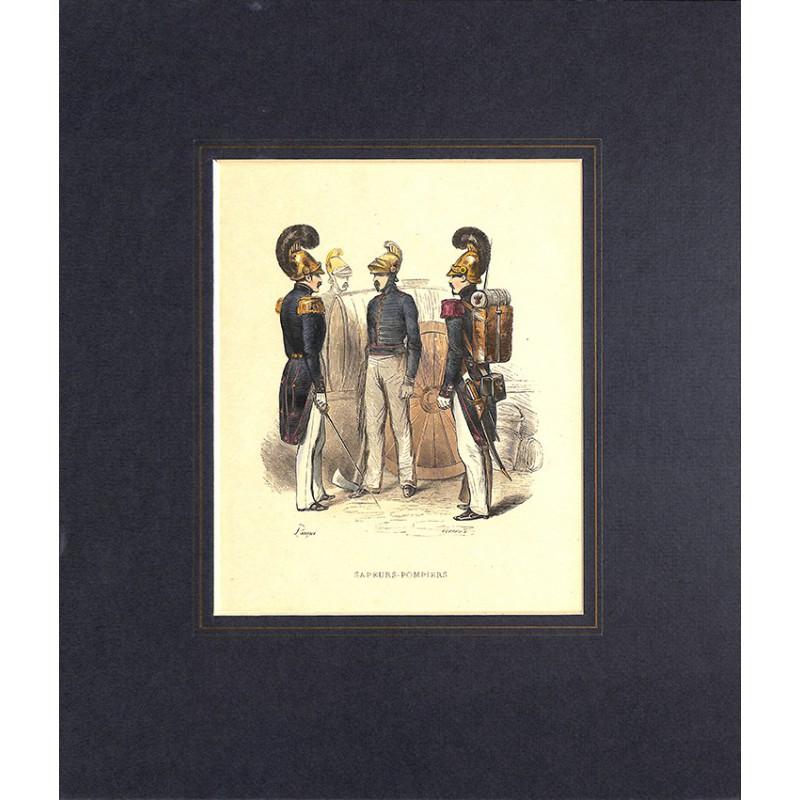 Gravures [Militariat] PAUQUET, Hippolyte.- SAPEURS-POMPIERS.
