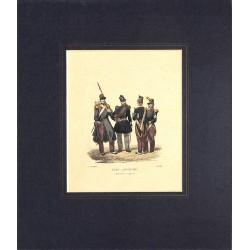 ABAO Gravures [Militariat] LAMY, Eugène-Louis.- SOUS-OFFICIERS Infanterie légère.