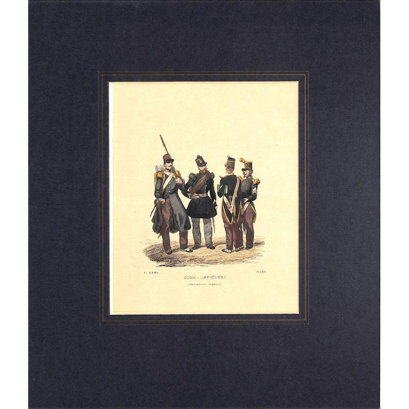Gravures [Militariat] LAMY, Eugène-Louis.- SOUS-OFFICIERS Infanterie légère.