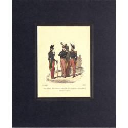 ABAO Gravures [Militariat] LAMY, Eugène-Louis.- COLONEL, ADJUDANT-MAJOR ET SOUS-LIEUTENANT Infanterie légère.