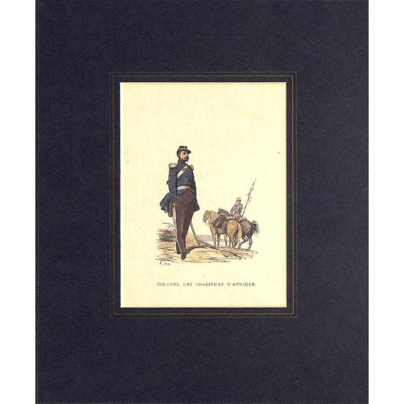 Gravures [Militariat] LAMY, Eugène-Louis.- COLONEL DES CHASSEURS D'AFRIQUE.