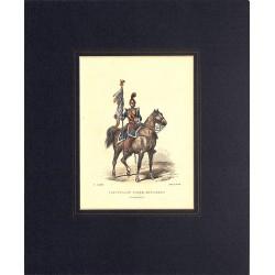 Gravures [Militariat] LAMY, Eugène-Louis.- LIEUTENANT PORTE-ETENDARD (Carabiniers).