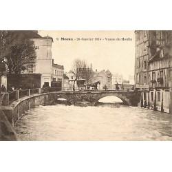 77 - Seine-et-Marne [77] Meaux - 29 Janvier 1910. Vanne du Moulin.