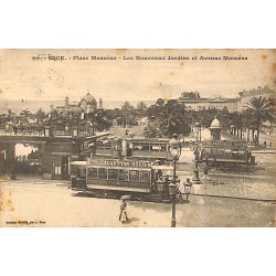 06 - Alpes Maritimes [06] Nice - Place Masséna. Les Nouveaux Jardins et Avenue Masséna.