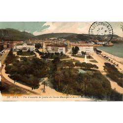 06 - Alpes Maritimes [06] Nice - Vue d'ensemble du Jardin du Casino Municipal et de la Promenade du Midi.