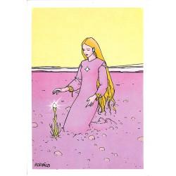 Cartes postales Moebus - Alice dans le désert. Carte postale Stardom 016.