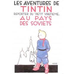Cartes postales Tintin - Au pays des Soviets. Carte postale Arno 23.