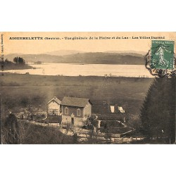 ABAO 73 - Savoie [73] Aiguebelette - Vue générale de la Plaine et du Lac. Les Villas Durand.