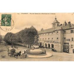 73 - Savoie [73] Chambéry - Place du Centenaire et Boulevard de la Colonne.