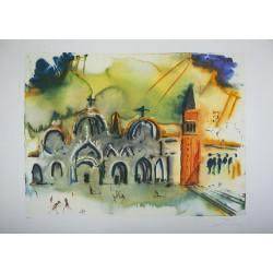 ABAO Gravures DALI (Salvador) - La place Saint-Marc à Venise. TL signé.