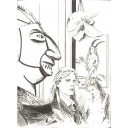 ABAO Bandes dessinées Le Masque de fer 01 + jaquette TL 99 ex. num. & s.