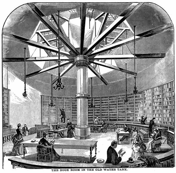 La bibliothèque publique à Chicago.