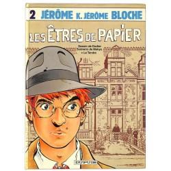 [BD] Dodier - Jérôme K. Jérôme Bloche 02. EO.